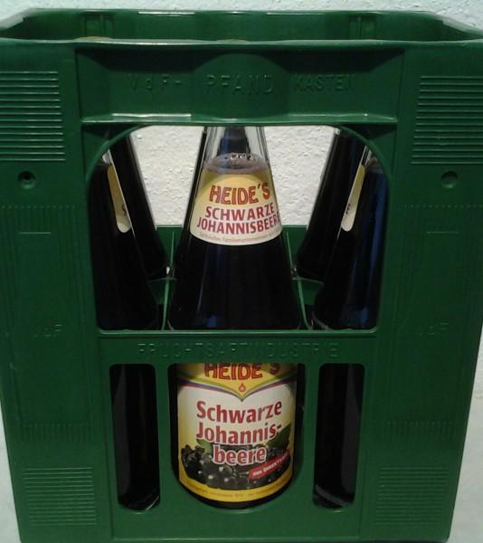 Heide`s Schwartzer Johannisbeer Nektar 6x1l