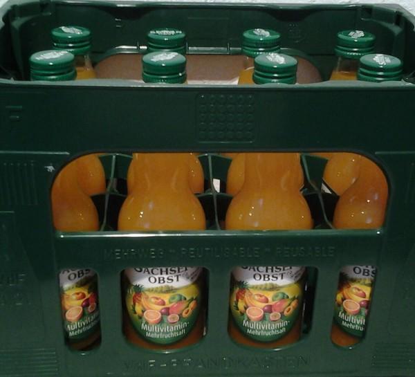 Sachsen Obst Multivitamin-Mehrfruchtsaft 12x0,2l